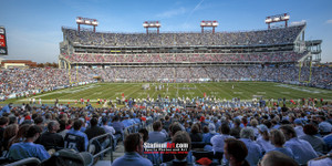 Tennessee Titans Nissan Stadium NFL Football Photo Art Print 13x26 StadiumArt.com Sports Photos