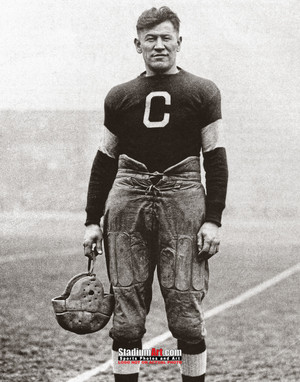 Jim Thorpe Football Standing 8x10 or 11x14 or 40x30 photo StadiumArt.com Sports Photos