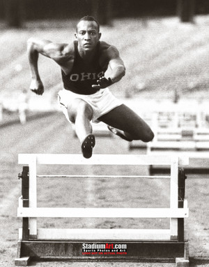 Jesse Owens Track Hurdle Ohio State 8x10 or 11x14 or 40x30 photo StadiumArt.com Sports Photos