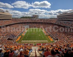 Tennessee Volunteers Neyland Stadium 01 Vols 11x14