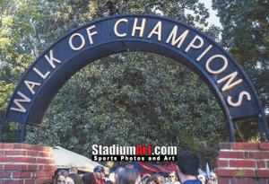 Ole Miss Rebels Mississippi Walk of Champions Grove NCAA College Football 8x10-48x36 Photo Print 5320
