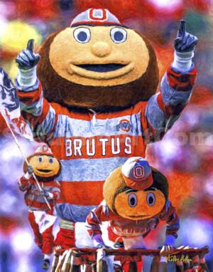 Brutus Mascot Ohio State Buckeyes