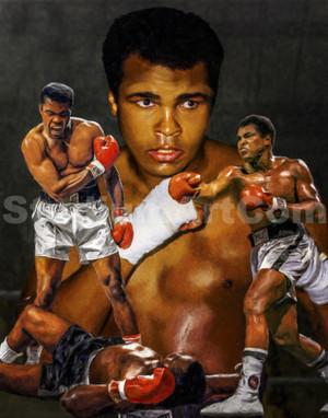 Muhammad Ali Boxer Liston Cassius Marcellus Clay Boxing Art Print 2510 8x10-48x36