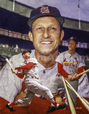 St Louis Cardinals Stan Musial MLB Baseball Player Art Print 2510 8x10-48x36