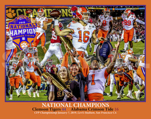 Clemson Tigers National Champions NCAA College Football 2019