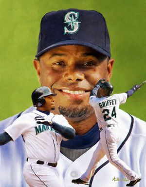 Ken Griffey Jr Seattle Mariners MLB Baseball Stadium Field Art Print 8x10 or 11x14 or 16x20 or 40x30 StadiumArt.com Sports Photos
