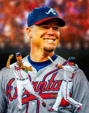 Chipper Jones Atlanta Braves MLB Baseball Stadium Field Art Print 8x10 or 11x14 or 16x20 or 40x30 StadiumArt.com Sports Photos