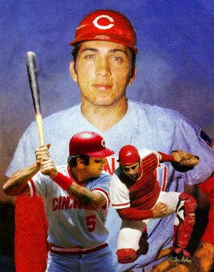 Johnny Bench Cincinnati Reds MLB Baseball Stadium Field Art Print 8x10 or 11x14 or 16x20 or 40x30 StadiumArt.com Sports Photos