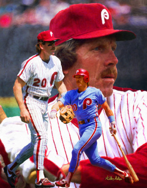 Mike Schmidt Philadelphia Phillies MLB Baseball Stadium Field Art Print 8x10 or 11x14 or 16x20 or 40x30 StadiumArt.com Sports Photos