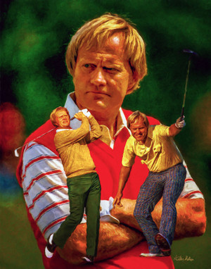 Jack Nicklaus Professional Golfer PGA Golf Professional Golfer Art Print 8x10 or 11x14 or 16x20 or 40x30 StadiumArt.com Sports Photos