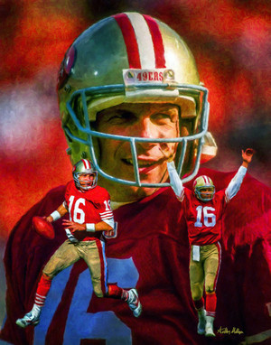 San Francisco 49ers Joe Montana NFL Football Art Print 8x10 or 11x14 or 16x20 or 40x30 StadiumArt.com Sports Photos