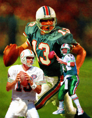 Miami Dolphins Dan Marino NFL Football Art Print 8x10 or 11x14 or 16x20 or 40x30 StadiumArt.com Sports Photos