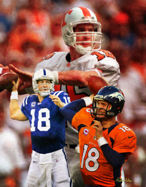 Indianapolis Colts Peyton Manning NFL Football Art Print 8x10 or 11x14 or 16x20 or 40x30 StadiumArt.com Sports Photos