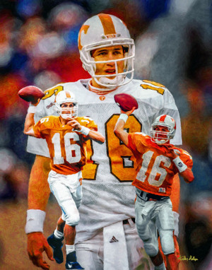 Tennessee Volunteers Peyton Manning NFL Football Art Print 8x10 or 11x14 or 16x20 or 40x30 StadiumArt.com Sports Photos