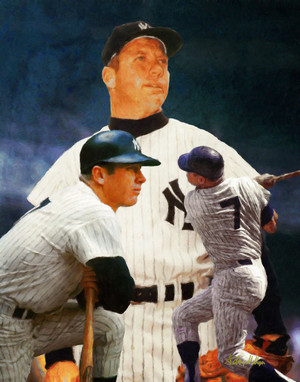 Mickey Mantle NY Yankees New York MLB Baseball Stadium Field Art Print 8x10 or 11x14 or 16x20 or 40x30 StadiumArt.com Sports Photos main image 2510
