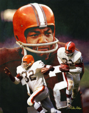 Jim Brown Cleveland Browns Running Back NFL Football Art Print 8x10-48x36 2510