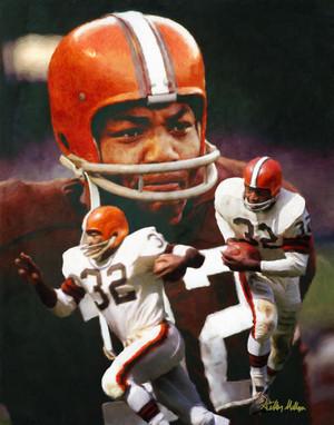 Jim Brown Cleveland Browns Running Back NFL Football Art Print 8x10-48x36 2510