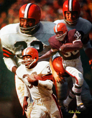 Jim Brown Cleveland Browns Running Back NFL Football Art Print 8x10-48x36 2520