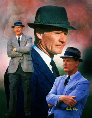Tom Landry Dallas Cowboys Head Coach NFL Football Art Print 8x10-48x36 2510