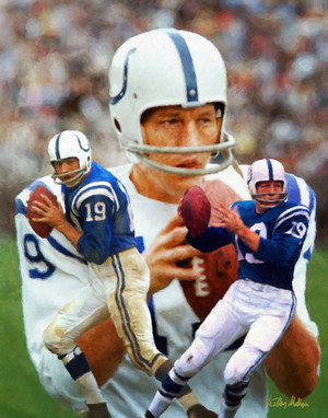 Johnny Unitas Baltimore Colts QB Quarterback NFL Football Art Print 8x10-48x36 2520