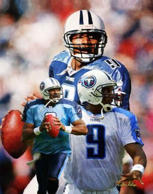 Steve McNair Tennessee Titans QB Quarterback NFL Football Art Print 8x10-48x36 2520