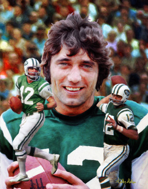 Joe Namath New York Jets QB Quarterback NFL Football Art Print 8x10-48x36