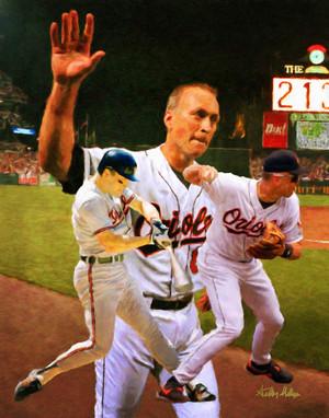 Cal Ripken Baltimore Orioles MLB Baseball Stadium Field Art Print 2520 8x10-48x36