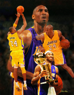Kobe Bryant Los Angeles Lakers LA Art NBA Basketball Art 8x10-48x36 Art Print 2520