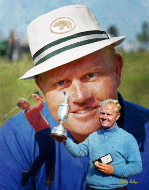 Jack Nicklaus PGA Golf Professional Golfer Art Print 2520 8x10-48x36