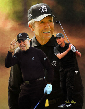 Gary Player Masters and Open Champion PGA Golf Professional Golfer Art Print 2510 8x10-48x36