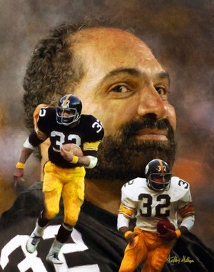 Franco Harris Pittsburgh Steelers Running Back NFL Football Art Print 2510