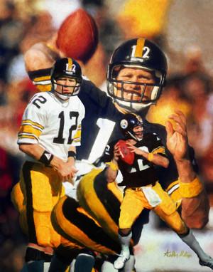 Terry Bradshaw Pittsburgh Steelers QB Quarterback NFL National Football League Art Print