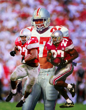 Ohio State Buckeyes Eddie George Running Back