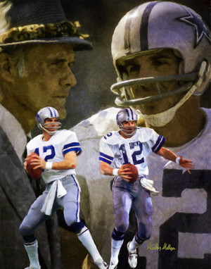 Dallas Cowboys Roger Staubach Quarterback QB NFL Football Art Print