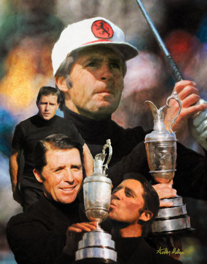 Gary Player Masters and Open Champion PGA Golf Professional Golfer Art Print 2520 8x10-48x36