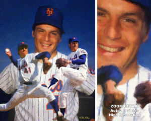 Tom Seaver New York Mets Tom Terrific NY Miracle Mets MLB Baseball Stadium Art Print 2510 main image with zoom detail