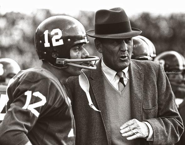 Bear Bryant Joe Namath Alabama Crimson Roll Tide College Football Photo 54 8x10-48x36