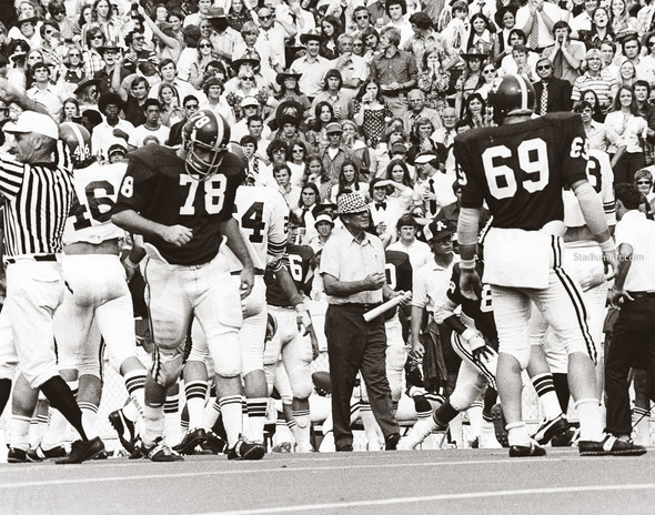 Bear Bryant Alabama Crimson Roll Tide College Football Photo 60 8x10-48x36