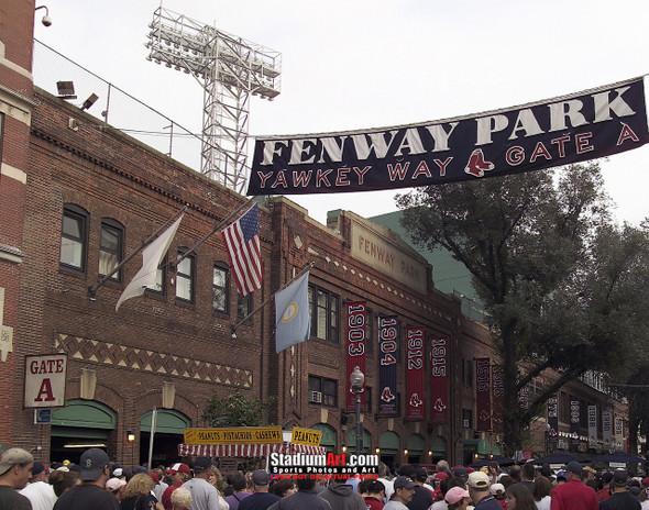 Boston Red Sox Fenway Park Yawkey Way MLB Baseball Photo 150 8x10-48x36