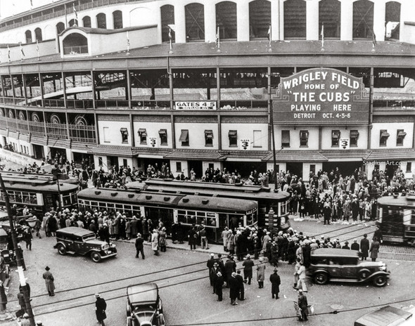 Chicago Cubs Wrigley Field Old MLB Baseball Photo 52 8x10-48x36