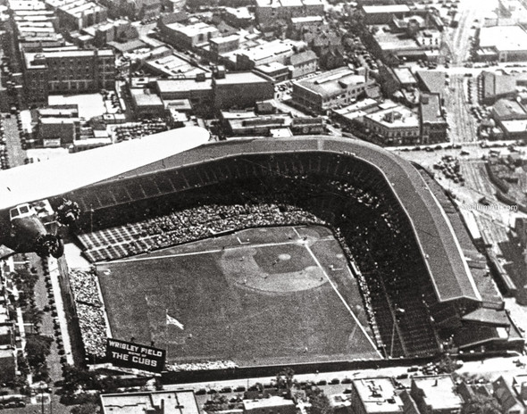 Chicago Cubs Wrigley Field Old MLB Baseball Photo 54 8x10-48x36