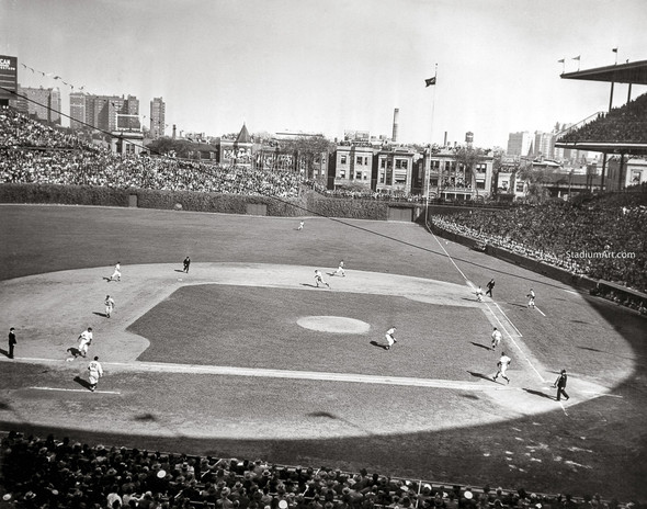 Chicago Cubs Wrigley Field Old MLB Baseball Photo 56 8x10-48x36