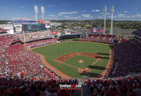 Cincinnati Reds Great American Ball Park Ballpark MLB Baseball Stadium Photo 01 8x10-48x36