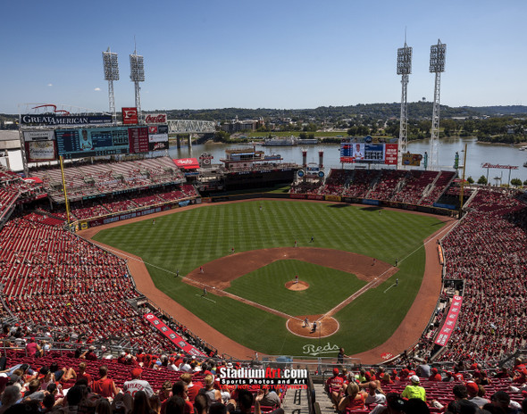 Cincinnati Reds Great American Ball Park Ballpark MLB Baseball Stadium Photo 02 8x10-48x36