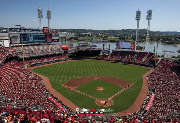 Cincinnati Reds Great American Ball Park Ballpark MLB Baseball Stadium Photo 03 8x10-48x36