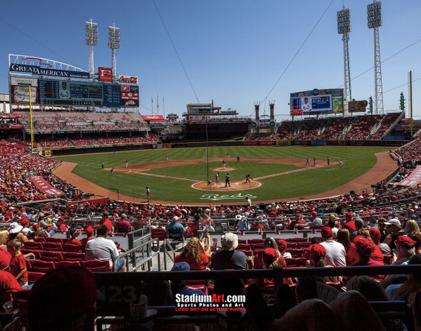 Cincinnati Reds Great American Ball Park Ballpark MLB Baseball Stadium Photo 04 8x10-48x36