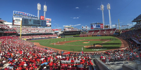 Cincinnati Reds Great American Ball Park Ballpark MLB Baseball Stadium Photo 06 8x10-48x36