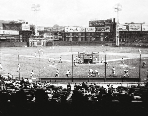 Cincinnati Reds z Crosley Field Ballpark MLB Baseball Stadium Photo 11 8x10-48x36