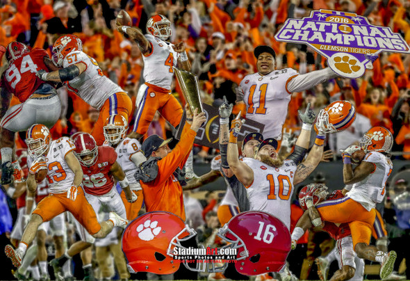 Clemson Tigers National Champions 2016 Art Print 01 8x10-48x36