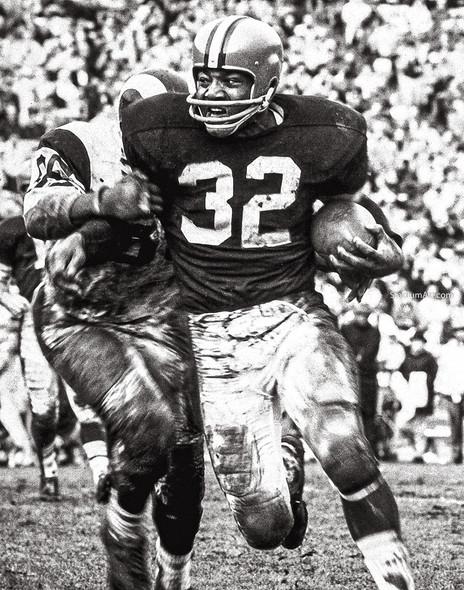 Cleveland Browns Jim Brown Football Photo Print 01 8x10-48x36